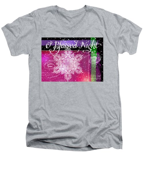 O Blessed Night Greeting Men's V-Neck T-Shirt