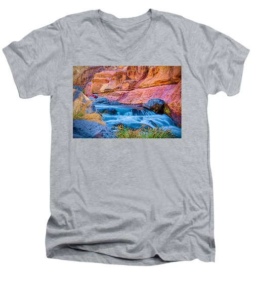 Oak Creek In The Spring Men's V-Neck T-Shirt