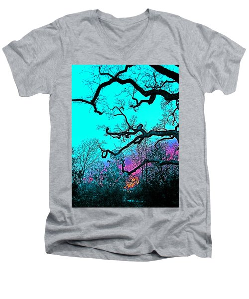 Men's V-Neck T-Shirt featuring the photograph Oaks 4 by Pamela Cooper