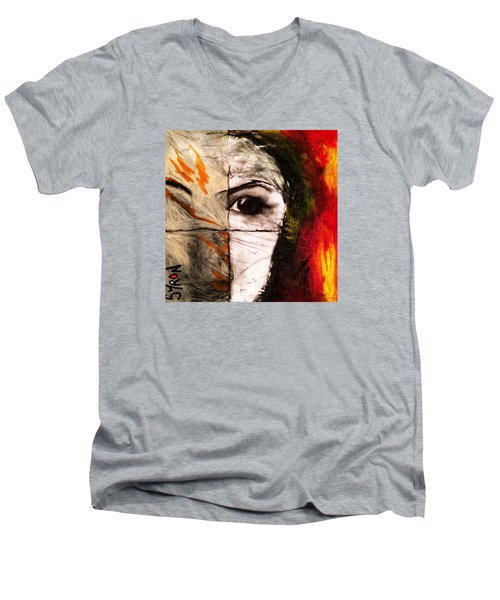 Obscure Men's V-Neck T-Shirt by Helen Syron