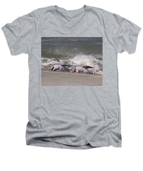 Observing Calf Men's V-Neck T-Shirt