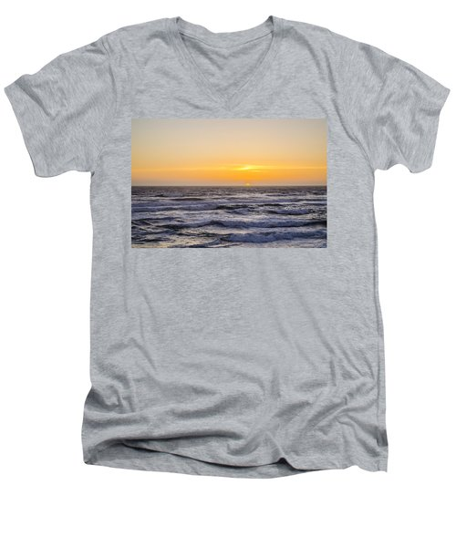 Ocean Beach Sunset Men's V-Neck T-Shirt