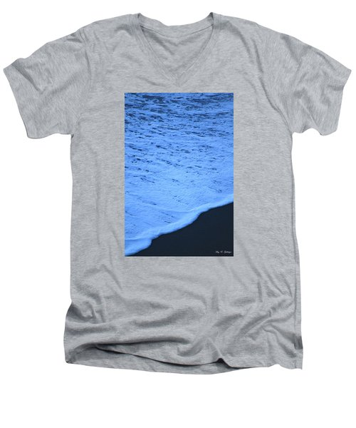 Men's V-Neck T-Shirt featuring the photograph Ocean Blues by Amy Gallagher