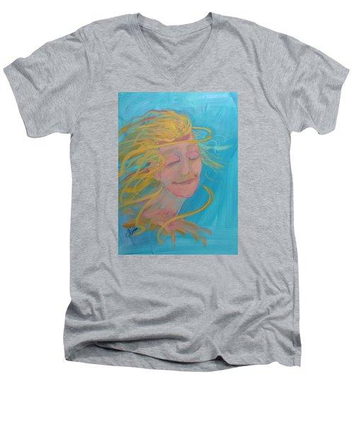 Ocean Breeze Men's V-Neck T-Shirt by Terri Einer