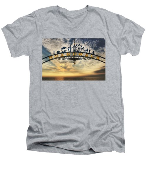 Ocean City Boardwalk Men's V-Neck T-Shirt