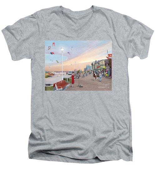 Ocean City Maryland Men's V-Neck T-Shirt by Albert Puskaric
