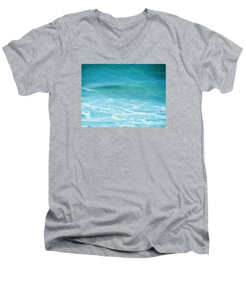 Men's V-Neck T-Shirt featuring the photograph Ocean Lullaby by Roselynne Broussard