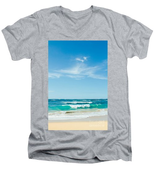 Men's V-Neck T-Shirt featuring the photograph Ocean Of Joy by Sharon Mau