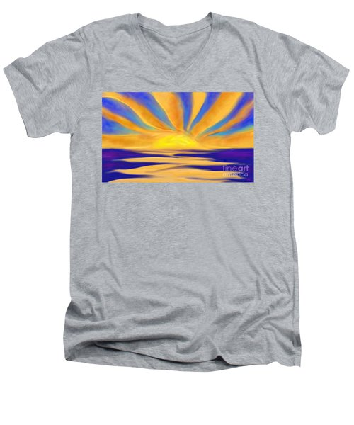 Ocean Sunrise Men's V-Neck T-Shirt