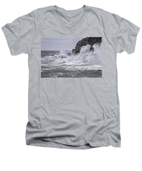 Ocean Surge At Gulliver's Men's V-Neck T-Shirt