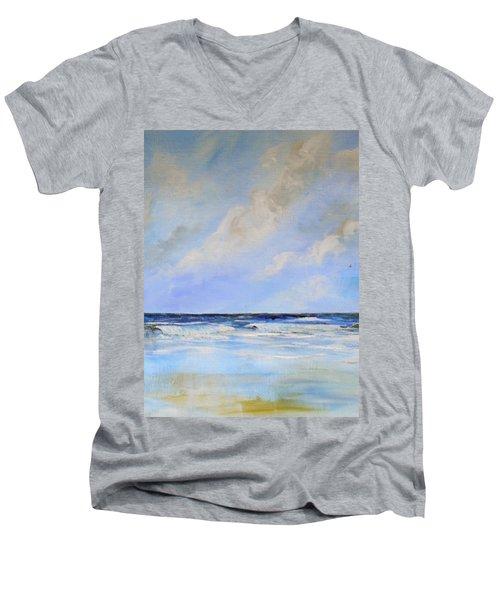 Ocean View Men's V-Neck T-Shirt by Dorothy Maier