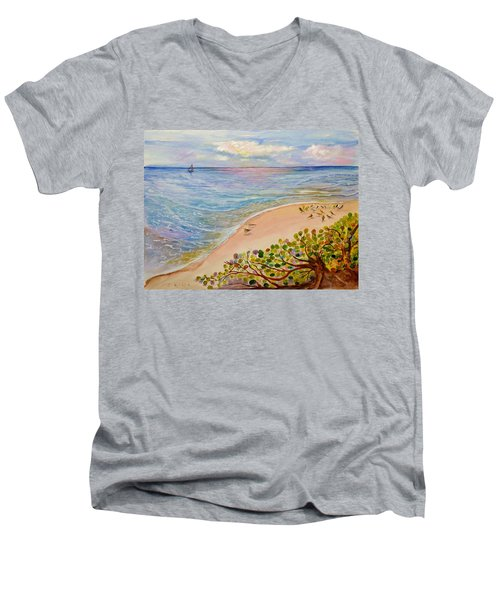 Seaside Grapes Men's V-Neck T-Shirt