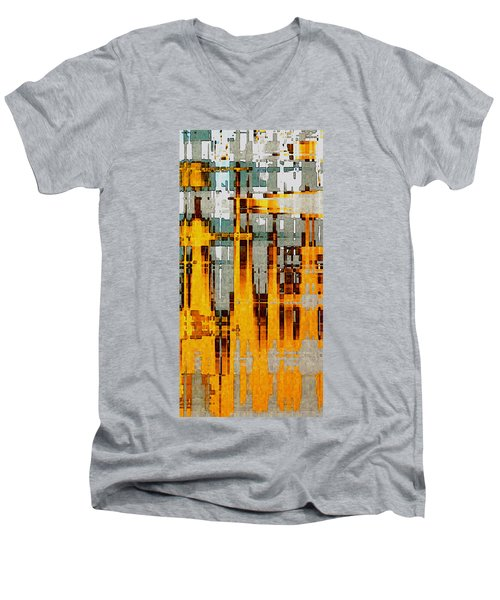 Ochre Urbanity Men's V-Neck T-Shirt by David Hansen