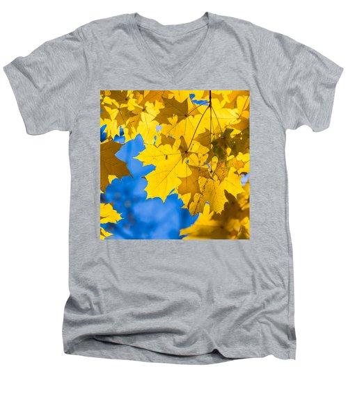 October Blues 8 - Square Men's V-Neck T-Shirt