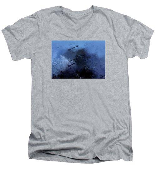 October Blues Men's V-Neck T-Shirt by Gun Legler