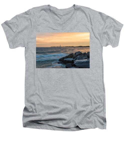 Men's V-Neck T-Shirt featuring the photograph Off The Cape by Kristopher Schoenleber