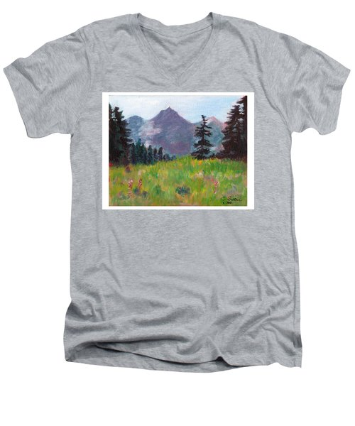 Off The Trail 2 Men's V-Neck T-Shirt by C Sitton