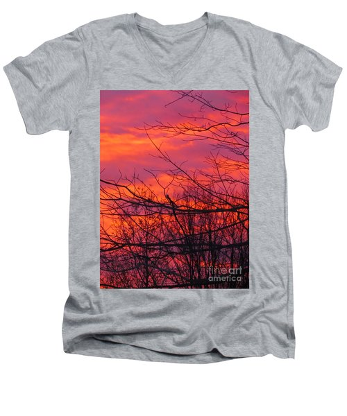 Oh What A Beautiful Morning Men's V-Neck T-Shirt by Elizabeth Dow
