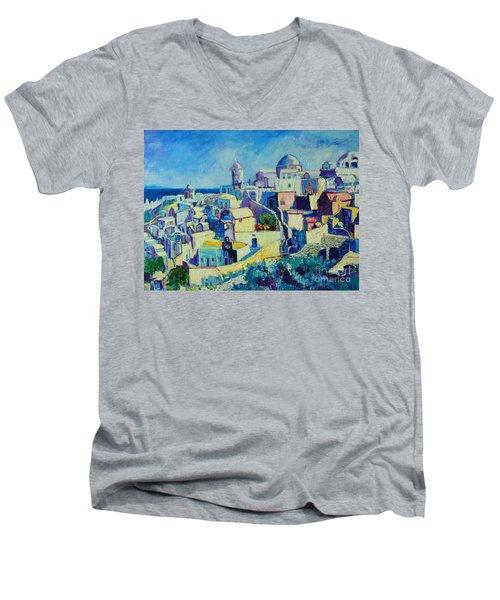 OIA Men's V-Neck T-Shirt by Ana Maria Edulescu