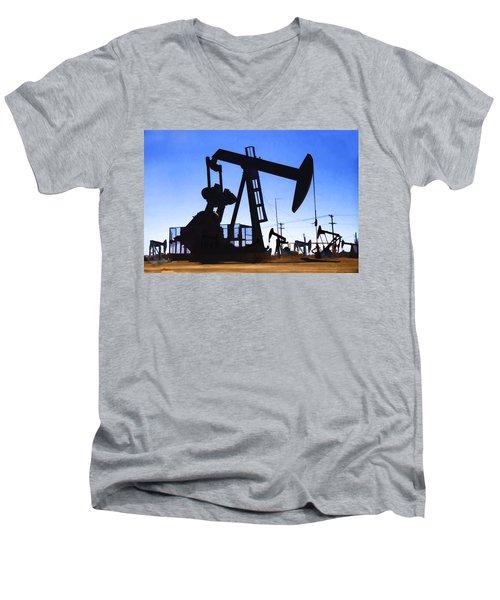 Oil Fields Men's V-Neck T-Shirt