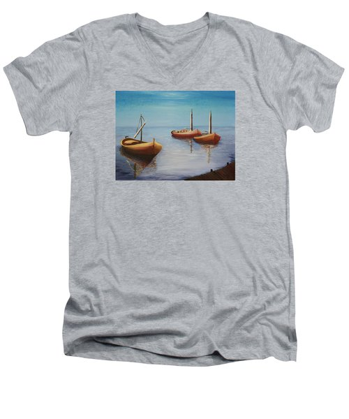 Oil Msc 023  Men's V-Neck T-Shirt