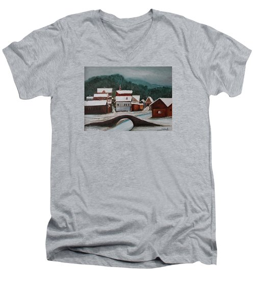 Oil Msc 032  Men's V-Neck T-Shirt