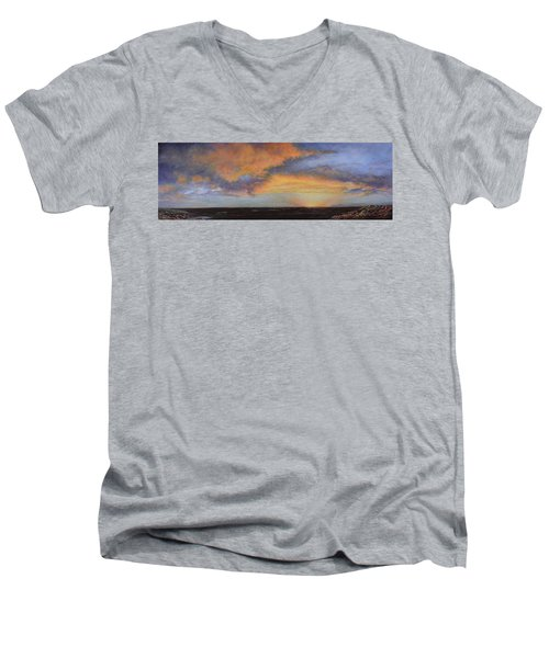 Oil Painting When The Sky Turns Color Men's V-Neck T-Shirt