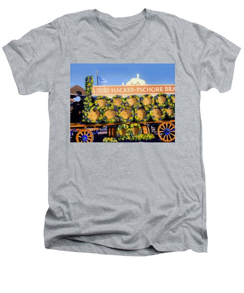 Men's V-Neck T-Shirt featuring the painting Oktoberfest by Lynne Reichhart
