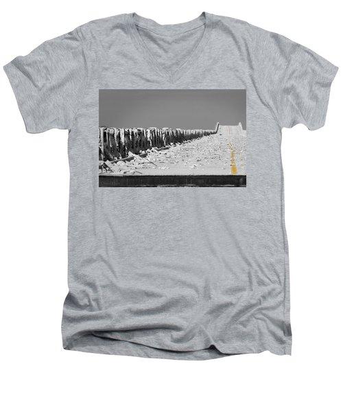 Old Bahia Honda Bridge Men's V-Neck T-Shirt