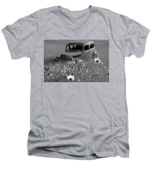 Men's V-Neck T-Shirt featuring the photograph Old Car by Leticia Latocki