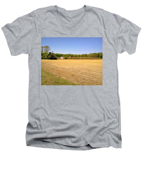 Men's V-Neck T-Shirt featuring the photograph Old Chicken Houses by Amazing Photographs AKA Christian Wilson