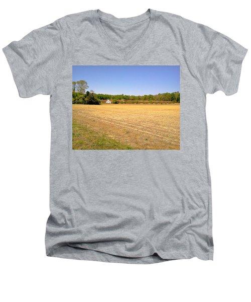 Old Chicken Houses Men's V-Neck T-Shirt by Amazing Photographs AKA Christian Wilson