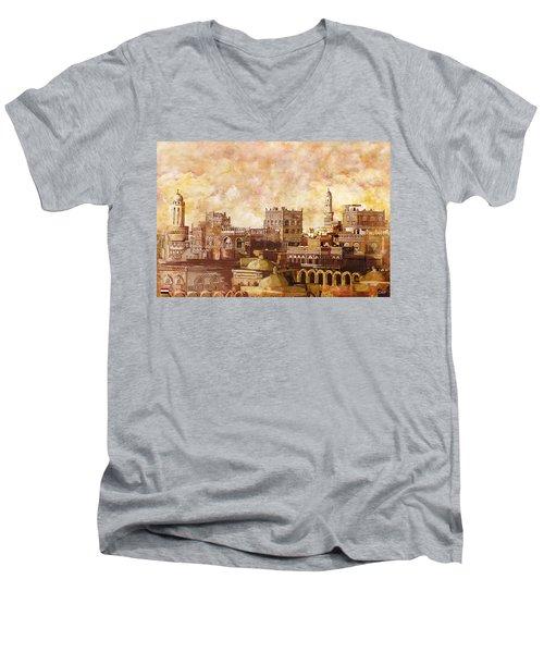 Old City Of Sanaa Men's V-Neck T-Shirt