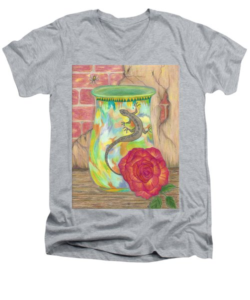 Old Crock And Rose Men's V-Neck T-Shirt