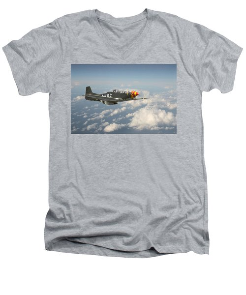P51 Mustang - 'old Crow' Men's V-Neck T-Shirt