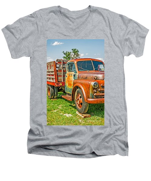 Old Dually Men's V-Neck T-Shirt by Sue Smith