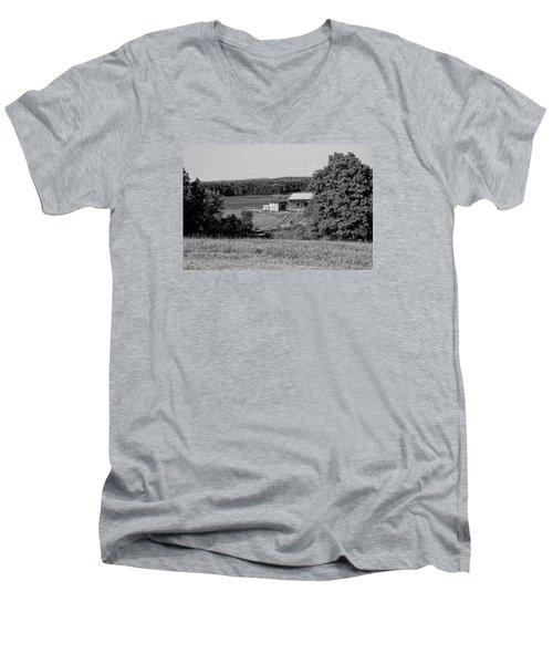 Old Farm House Revisited Men's V-Neck T-Shirt