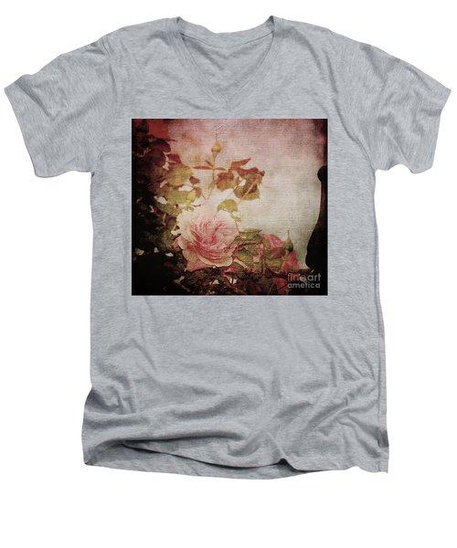 Old Fashion Rose Men's V-Neck T-Shirt