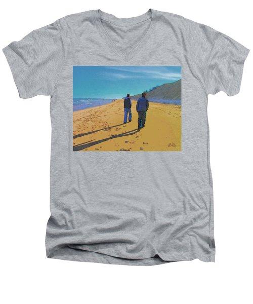 Old Friends Long Shadows Men's V-Neck T-Shirt