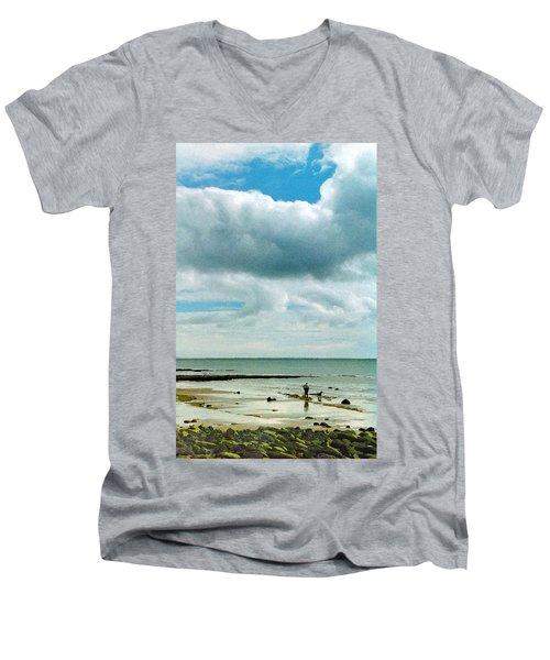 Old Friends Share A Beach Men's V-Neck T-Shirt