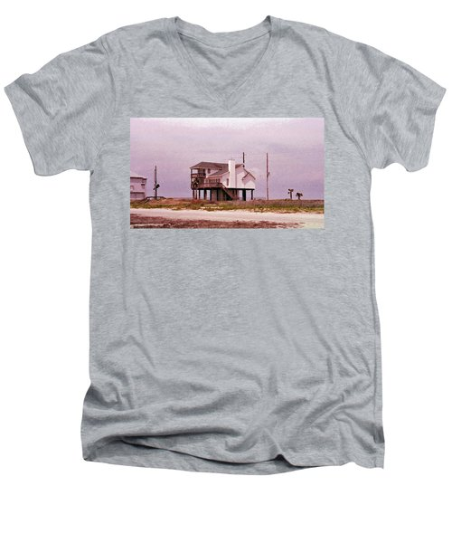 Old Galveston Men's V-Neck T-Shirt by Tikvah's Hope