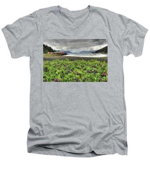 Old Haines Cannery Men's V-Neck T-Shirt