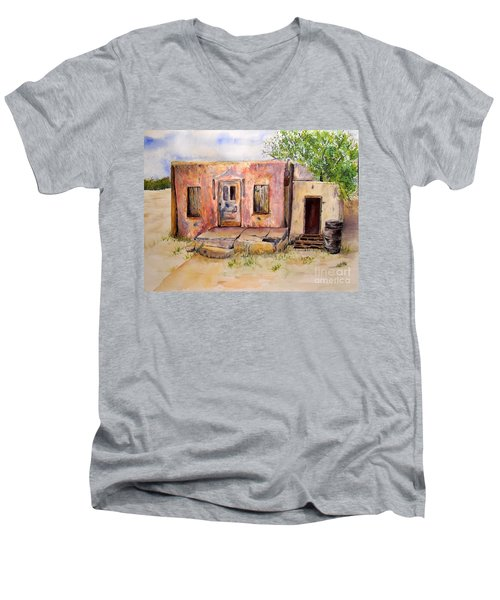 Old House In Clovis Nm Men's V-Neck T-Shirt