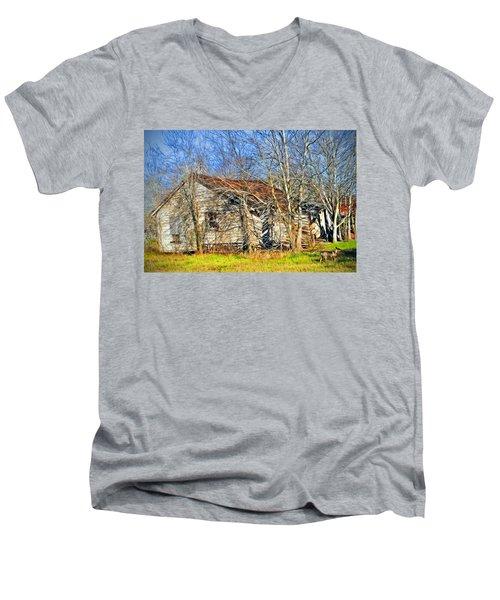 Old House Men's V-Neck T-Shirt by Savannah Gibbs