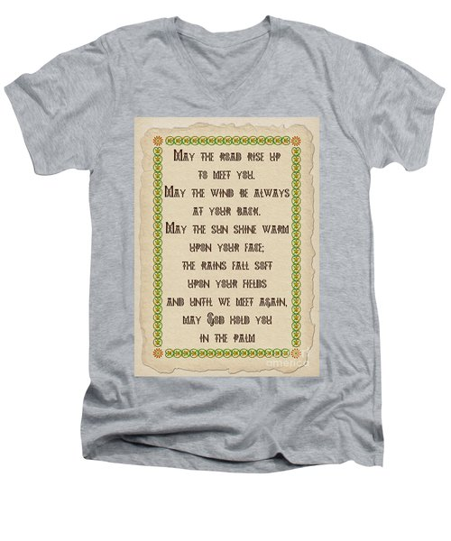 Old Irish Blessing Men's V-Neck T-Shirt by Olga Hamilton