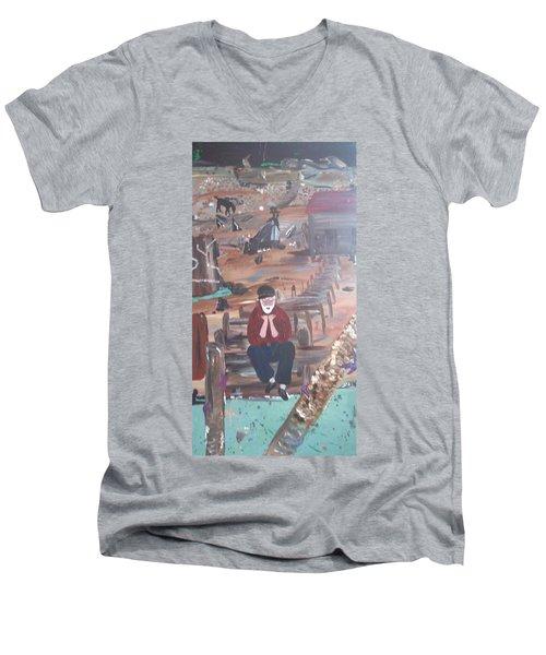 Old Man Men's V-Neck T-Shirt