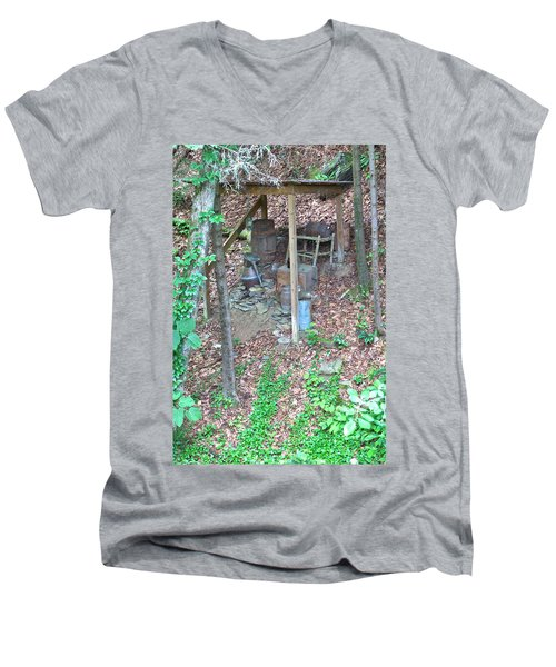 Old Mountain Still Men's V-Neck T-Shirt