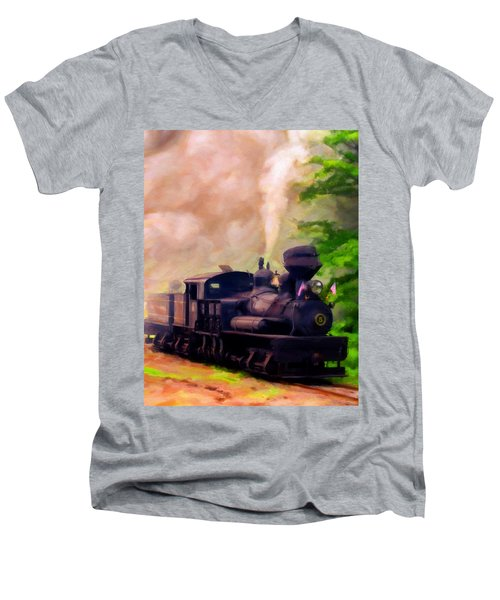 Old No. 5 Men's V-Neck T-Shirt by Michael Pickett