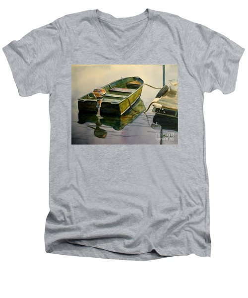Old Pal Men's V-Neck T-Shirt by Marilyn Jacobson
