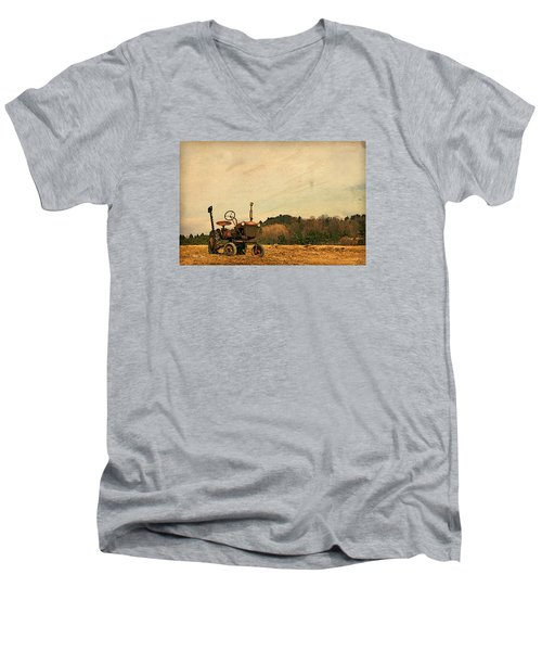 Men's V-Neck T-Shirt featuring the photograph Old Red by Joan Davis